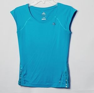 Adidas climalite core performance scoop neck top S